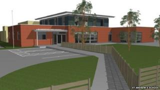 St Andrew's School - mock up of what the school would look like