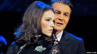Charlotte Spencer as Christine Keeler and Alexander Hanson as Stephen Ward
