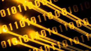 Fibre optic and binary number graphic