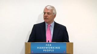 Sir John Major addressing Conservative election candidates