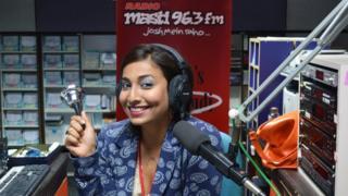 Rohini Ramnathan in the Masti 96.3 fm studio