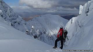 Top of North Gully on An Teallach