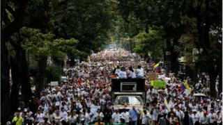 Women's anti-government march in Caracas