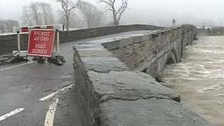 The Dyfi bridge at high water