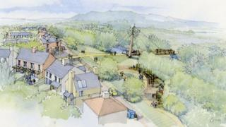 Artist's impression of The Mill housing development in Ely, Cardiff