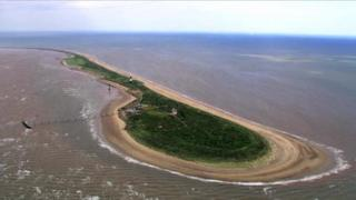 Spurn Point from the air