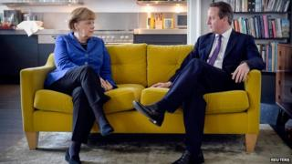 Angela Merkel and David Cameron