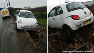 crash in Nether Haugh