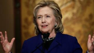 Hillary Clinton speaks at Georgetown University on 25 February, 2014.