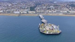 Aerial shot of Brighton