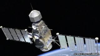 Artists impression of military satellite