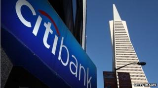 Citibank sign