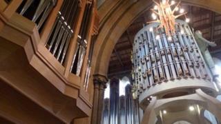 Organ at Llandaff Cathedral