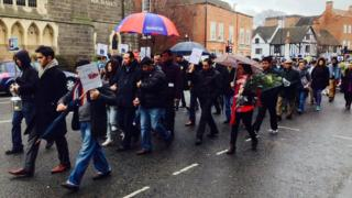 About 100 people following the last known route of Derby man Nadish Kunwar