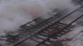 Main line at Dawlish in February