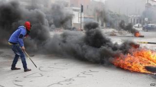 Libyan protester in central Tripoli. 2 March 2014