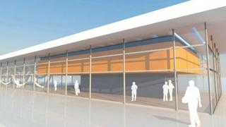 Artist's impression of new bus station