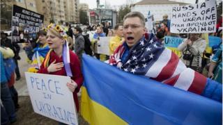 Anti-Russian demonstration in Washington DC