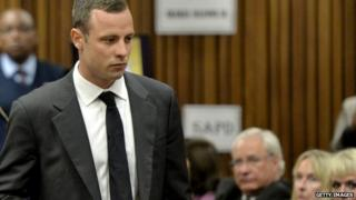 Oscar Pistorius at the Pretoria High Court on 3 March 2014