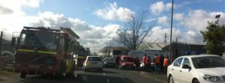 Scene at depot