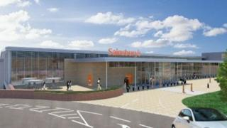 Artist impression of Sainsbury's