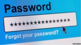 Screenshot of a password