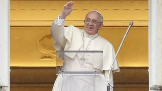 Pope Francis leads his Sunday Angelus prayer in Saint Peter's square at the Vatican March 2, 2014