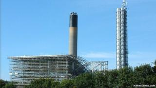 Isle of Man power station in Pulrose