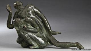 Adam and Eve sculpture by Jacob Epstein