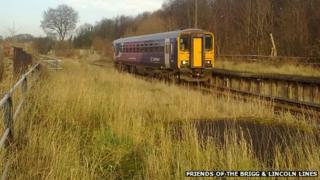 Train near Gainsborough Central
