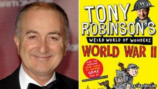 Tony Robinson and his book Weird World of Wonders: World War II