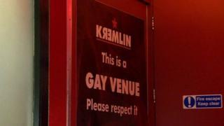 Kremlin night club door sign