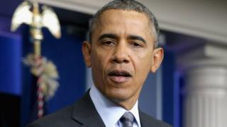 President Obama speaks during a 6 March press conference at the White House.