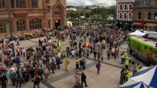 Guildhall Square during the 2013 All-Ireland Fleadh