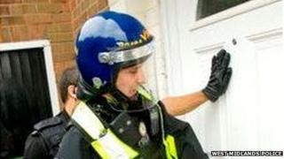 Police raid properties