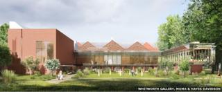 """An artist's impression of how the gallery will look with its new extension and """"art garden"""""""