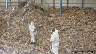 Warehouse filled with waste