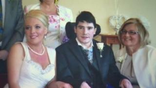 Catriona and Ciaran got married in hospital