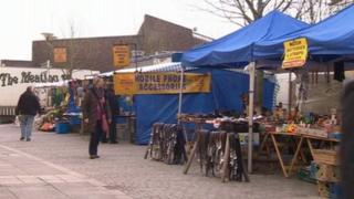 Basingstoke market stalls