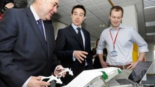 Alex Salmond was speaking as he opened the CodeBase Digital Tech Hub in Edinburgh