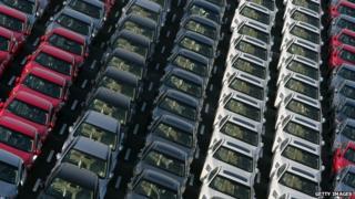 File image: Japanese cars awaiting export