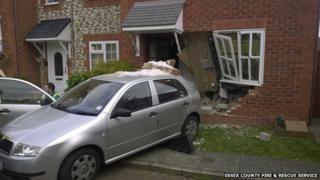 Car in house, Heybridge