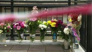 Flowers outside Ellie Butler's home