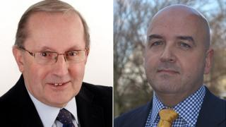 Guernsey chief minister candidates Allister Langlois (l) and Jonathan Le Tocq