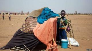 Kalma refugee camp near the Darfur town of Nyala. 9 March 2014