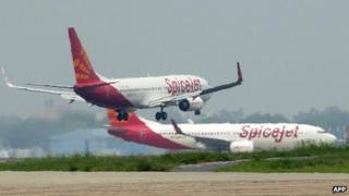 SpiceJet planes on tarmac