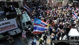 Protestors in Thailand