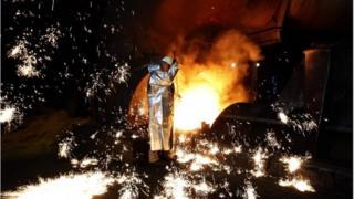 Blast furnace worker