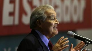 Salvador Sanchez Ceren speaks to the media during a news conference in San Salvador on 10 March, 2014