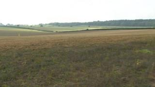 The farmland where the solar panels would be put up